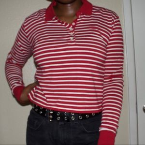Striped Forever 21 Collard Shirt
